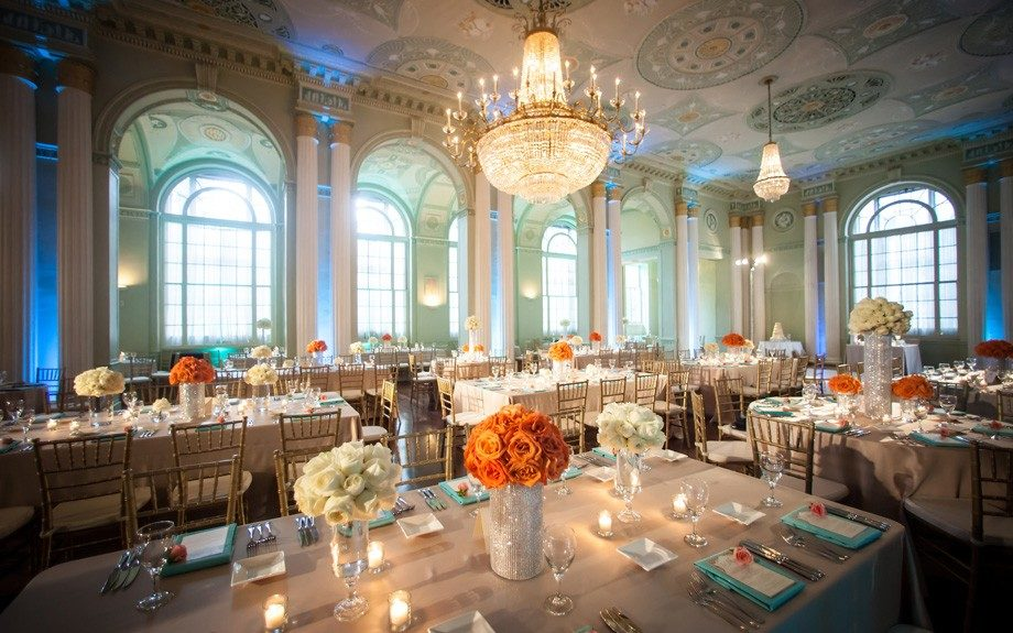 Classic Touch: The wedding reception exuded class and sophistication
