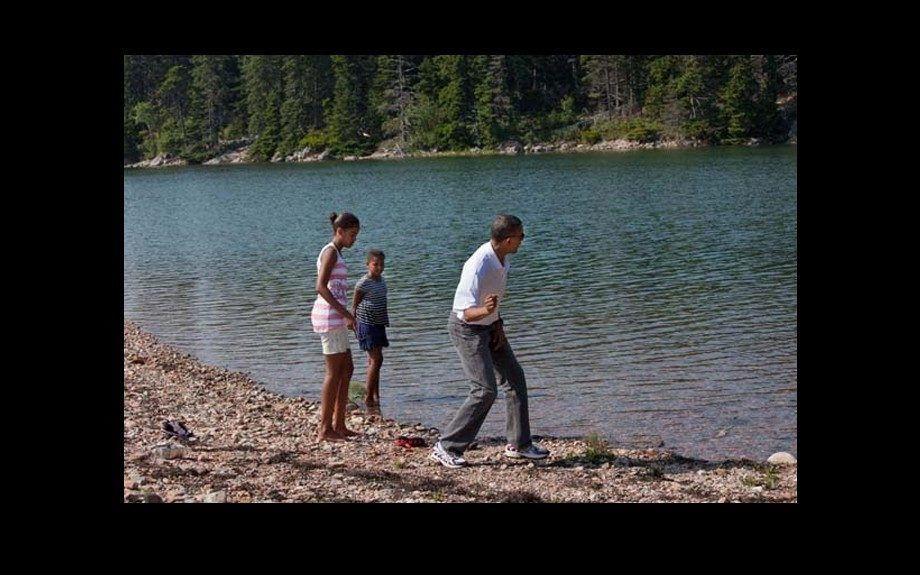 The list of life skills passed along includes many things, even skipping rocks.