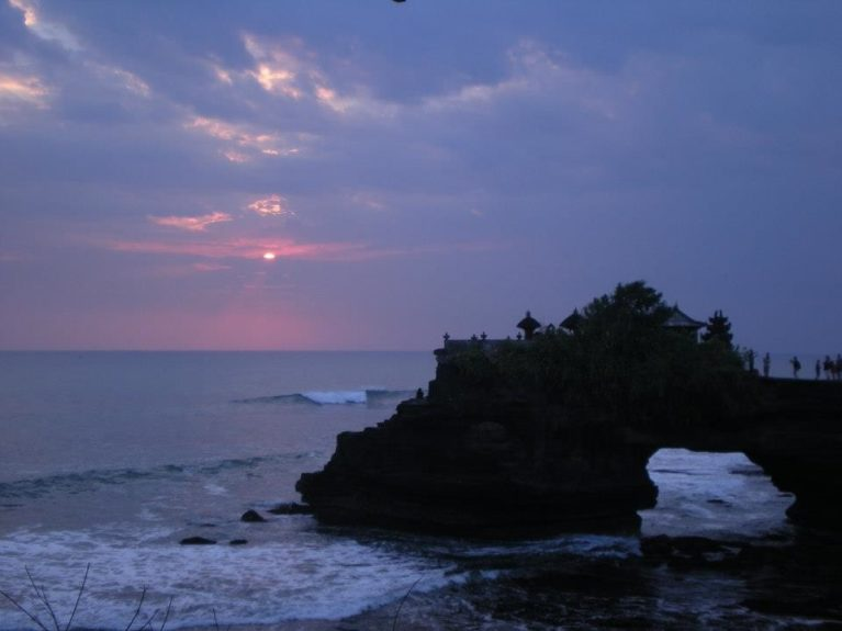The famous Tanah Lot temple in Bali.