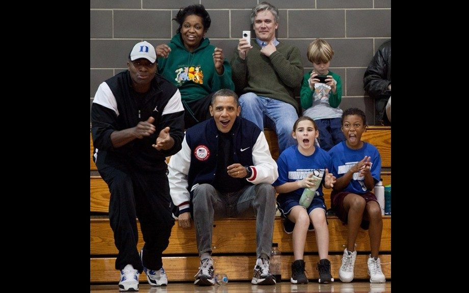 We all know Barack loves his basketball – and he makes a great coach for his daughters too.