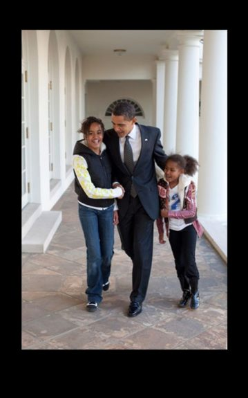 With everything that President Obama has on his plate, the First Lady said he still makes time for family.