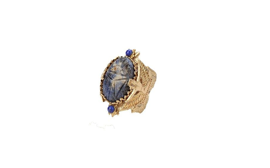 Blue Scarab Ring, $24 at urbanoutfitters.com