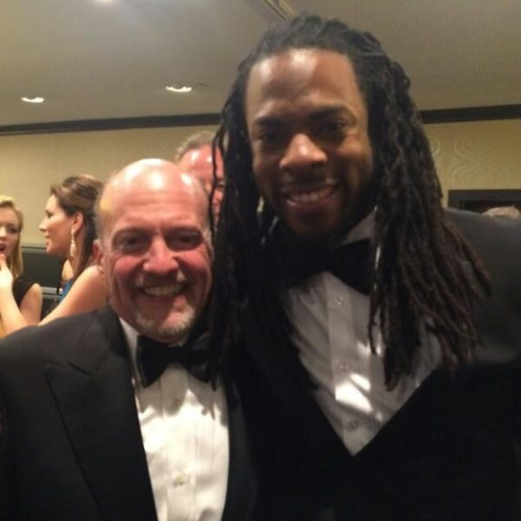 Richard Sherman in the house at the #nerdprom