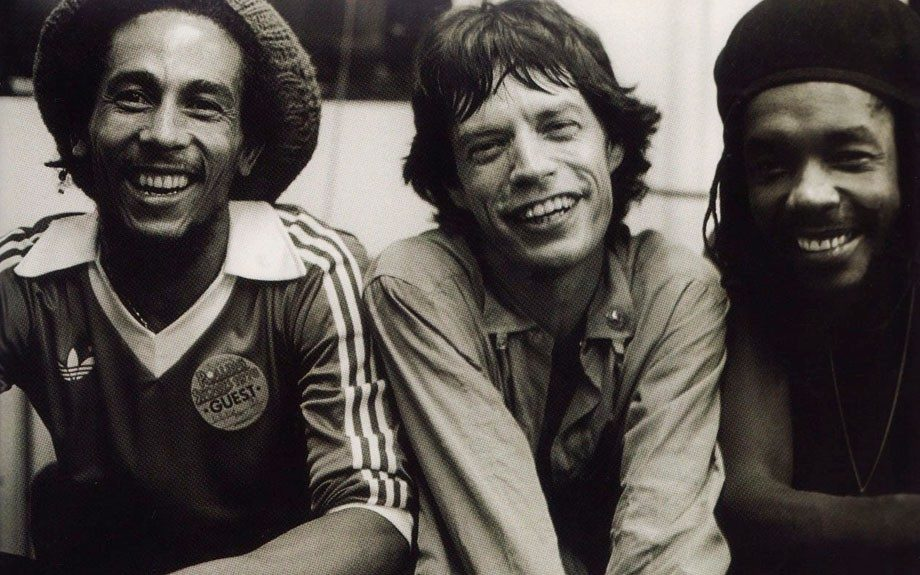 Wednesday, May 2, 2012: Musical legends Bob Marley, Mick Jagger, and Peter Tosh.