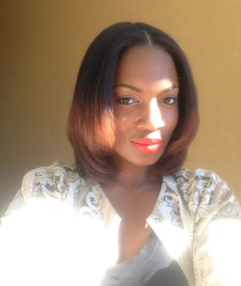 Cierra's natural blow out looks stunning on her. The color adds a pop of sass.