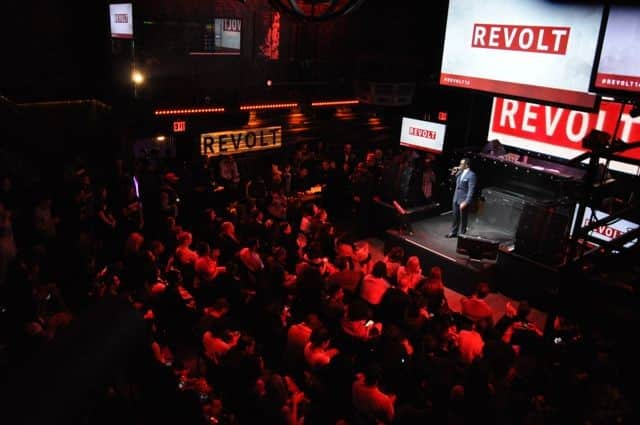 The crowd goes wild for Revolt TV