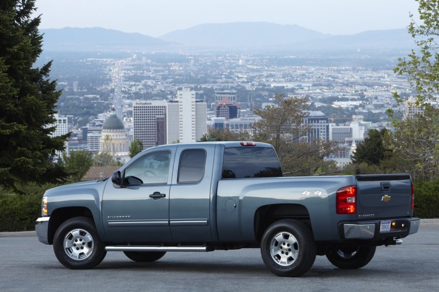 Chevy Silverado 1500 Extended Cab: with a 6-cylinder runs around $1,143 annually.