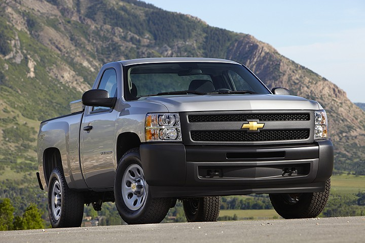 Chevy Silverado 1500 Regular Cab: equipped with a 6-cylinder runs around $1,125 annually.