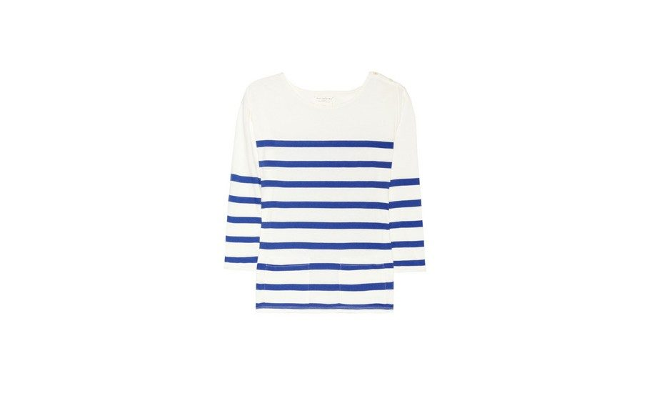 Chinti & Parker Stripped Organic Cotton Tee, $125 at net-a-porter.com