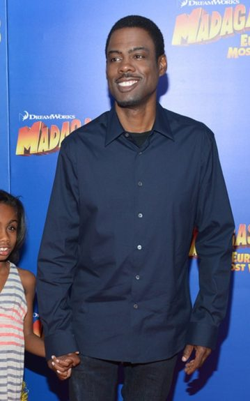 """Chris Rock was in NYC for """"The Today Show"""" earlier (where he took a jab at Chris Brown), and also attended the<em>Madagascar 3 </em>premiere<em>—</em>in which he stars— in a navy collared shirt"""
