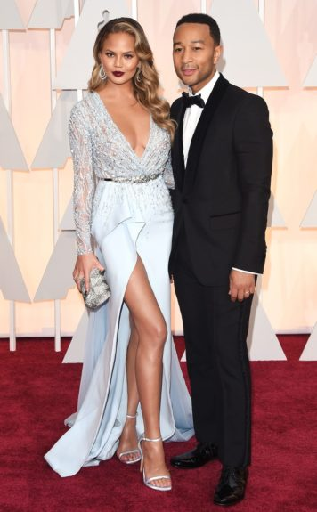 John Legend and Chrissy Teigen, arriving at the87thannual Academy Awards in the DolbyTheatrein Hollywood