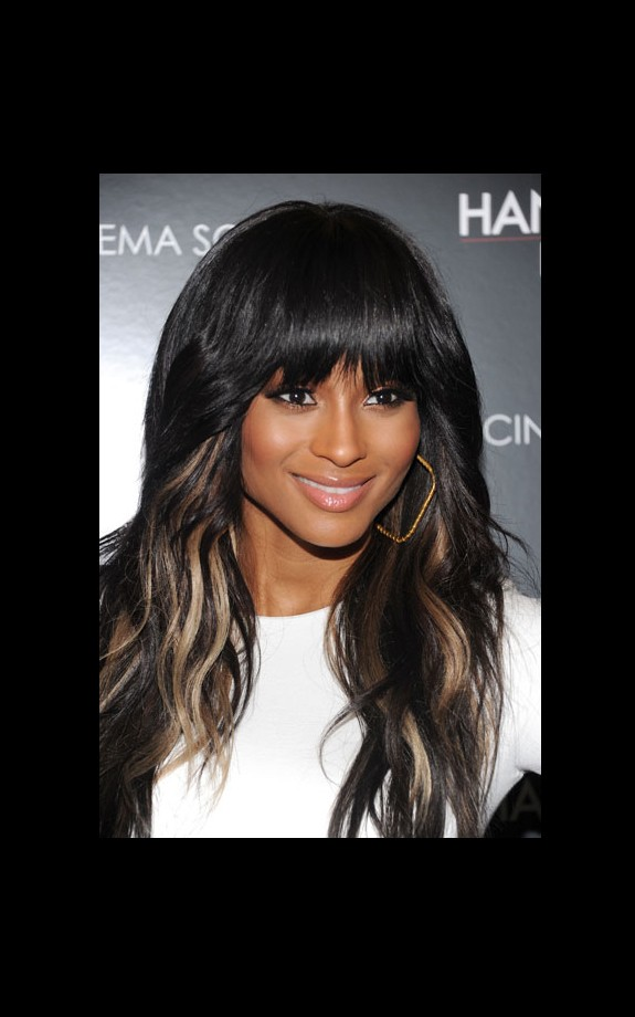 Ciara is stunningly streaked in blonde tresses. We love!