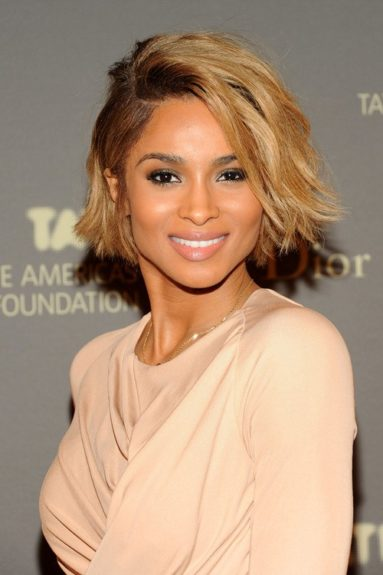 We loved Ciara with her blonde bob, but we loved her with this shorter pixie even more. Sadly, Cici didn't  keep it, but if you're looking for a change this season, try this cut for sure.