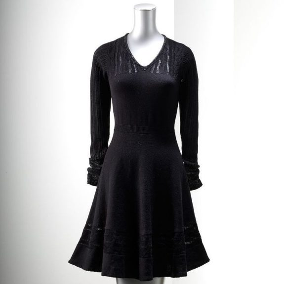 "<strong>For the Classic Style: </strong><a href=""http://www.kohls.com/product/prd-1496758/simply-vera-vera-wang-fit-flare-sweaterdress.jsp?src=J84DHJLQkR4&siteID=J84DHJLQkR4-EbrsITtWMBbRTE.IYUgHeQ"">Simply Vera Vera Wang Fit and Flare sweater dress </a>($41, kohls.com)"