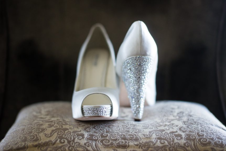 The bride loved her shoes, and we can see why