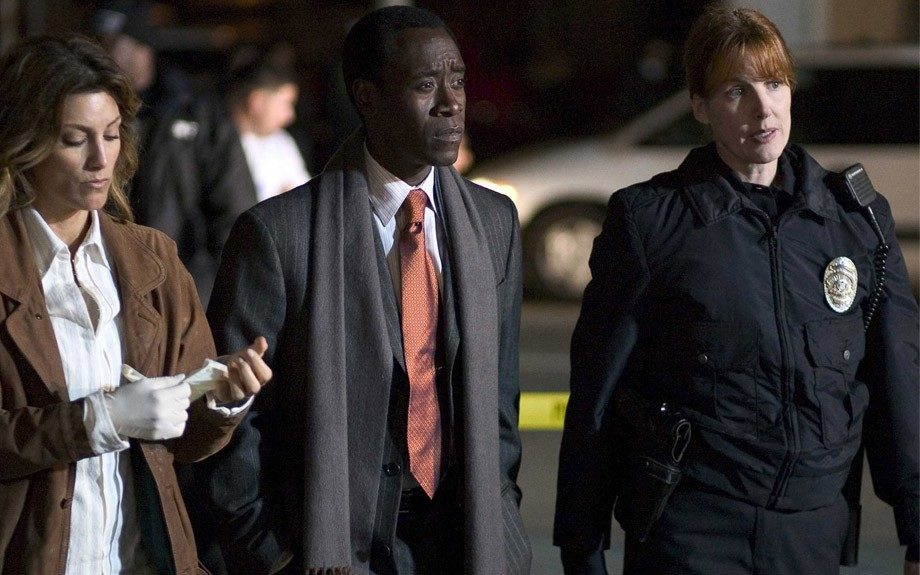 """Cheadle also plays Detective """"Tango"""" Butler, an undercover cop on the drug beat, in the star-studded Brooklyn's Finest (2009.)"""