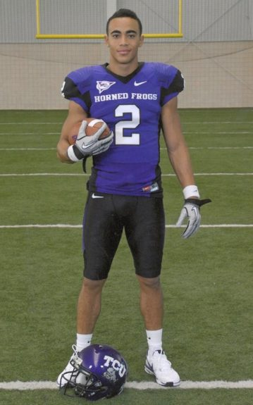 Senior Picture in his last season at TCU.