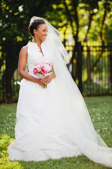 The bride D'Ann Redd is a portrait of a classic American beauty