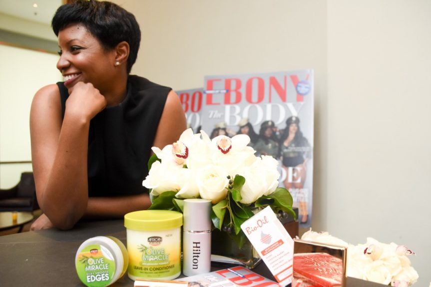 <p> EBONY editor Tia Brown still smiling at the end of a lovely afternoon</p>