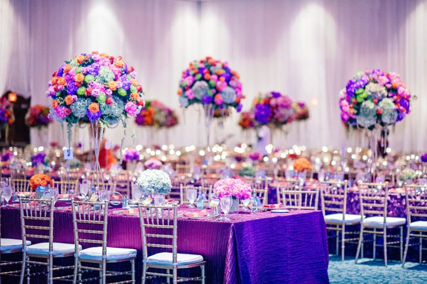 The Brices found a way to incorporate loads of purples and pinks without overdoing it.