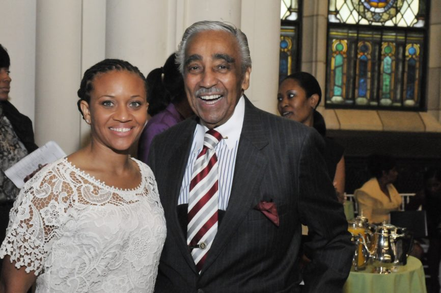 Sheena Wright and Congressman Charlie Rangel at the Abyssinian Development Corp., Annual Harlem Renaissance Day of CommitmentBreakfast