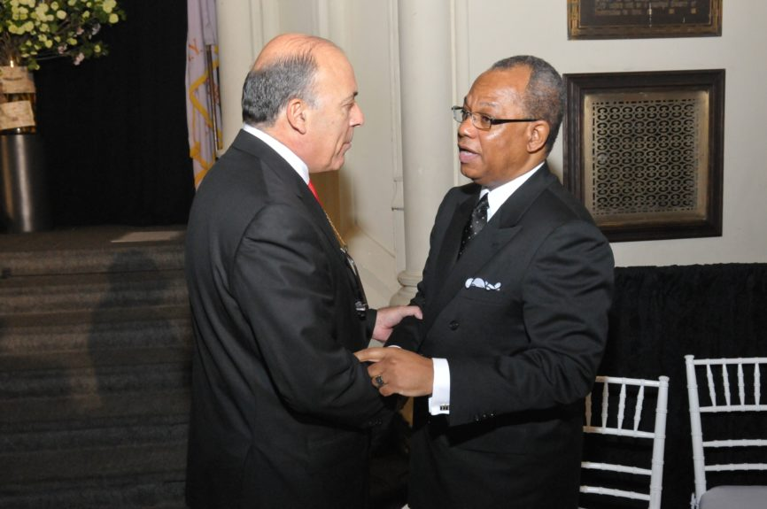 Coca-Cola Chairman and CEO Muhtar Kent and Rev. Dr. Calvin O. Butts, III, pastor of Harlem's iconic Abyssinian Baptist Church at the Abyssinian Development Corp., Annual Harlem Renaissance Day of CommitmentBreakfast