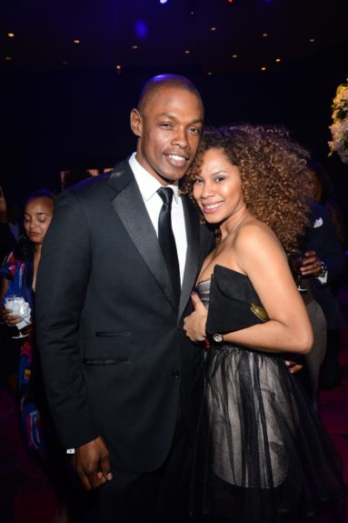 Andre Brown with wife, Latoya Scott Brown