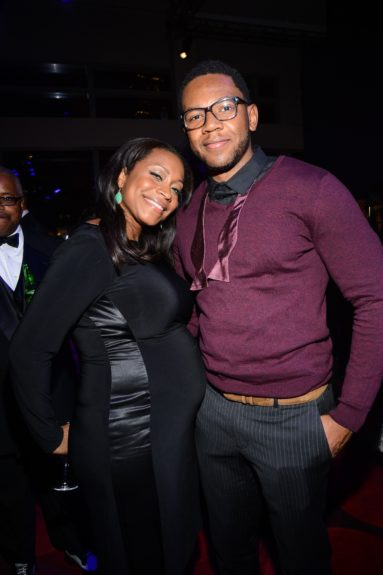 NickieRobinson and Husband Guests attend the EBONY Power 100afterparty.