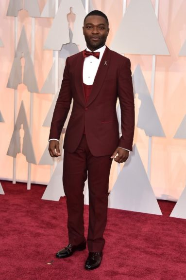 "David Oyelowo: ""A red and maroon three piece suit! There is no 'GLORY' in that look."""