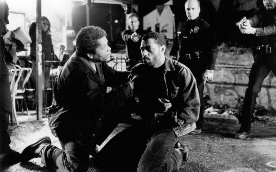 The 1992 crime thriller Deep Cover (1992) stars Laurence Fisburne as a no-nonsense Cincinnati police Officer Russell Stevens who goes undercover on a major sting operation in LA.