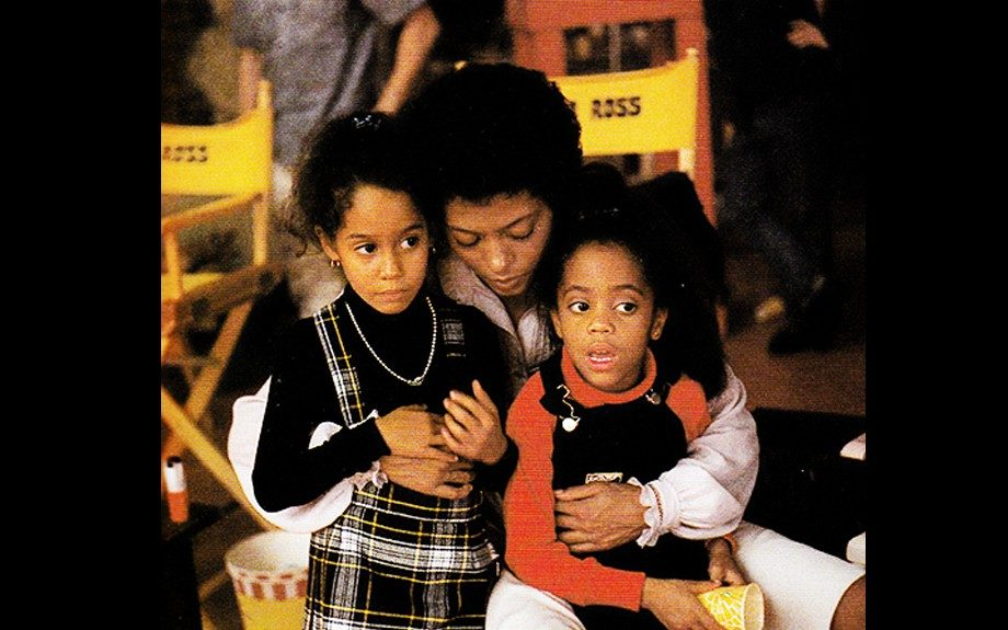 Diana Ross tends to a young Tracee Ellis Ross and Rhonda Ross Kendrick in 1978.
