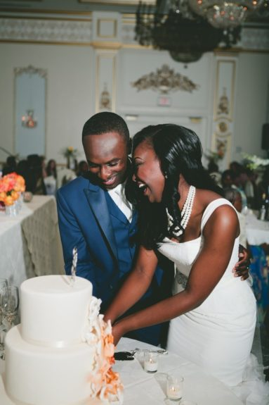 Cutting the cake and building the memories