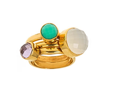 Didi Colley Jujube Stackable Rings, $66 each at maxandchloe.com