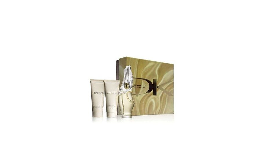 Gift sets are a quick and stylish all-in-one option for the Mom who just has to smell good! Donna Karen Cashmere Mist gift set, $98 macys.com