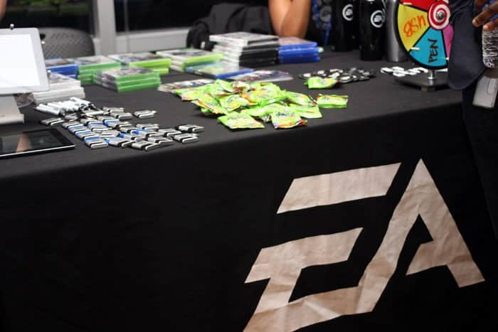 Co-sponsor EA Sports hooked attendees with lots of gaming swag.
