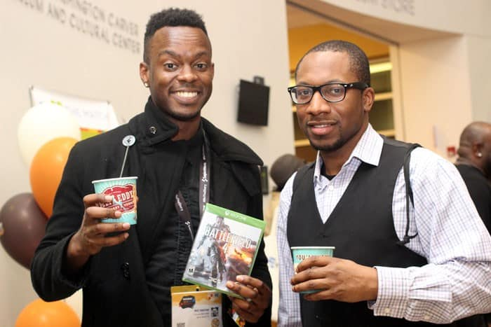 Comedian and author Will Hatcher and Cavaughn Noel