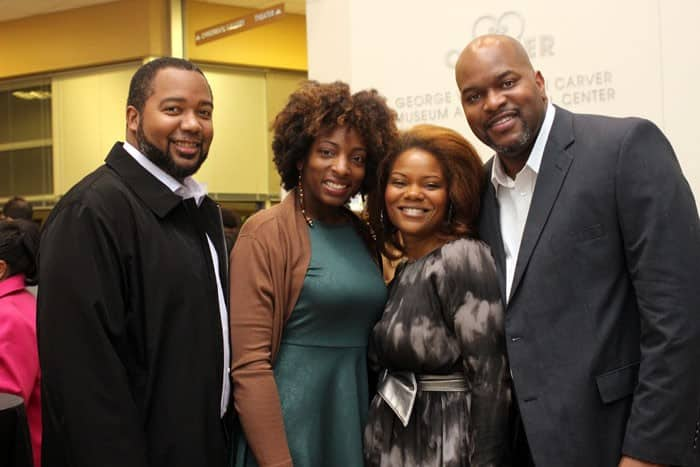 Victor Henry (far right), with guests Patrick, Liz, and Vanessa/