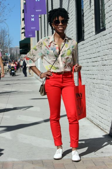 We love everything about Dallas girl Tashanee Williams' entire outfit. Wipe her down.