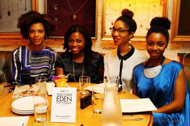 """(L-R) Dr. Alicia Feagins, Leslie Pitterson, Pamela Shepherd and Shayla Cox at """"Brunch with EDEN"""""""