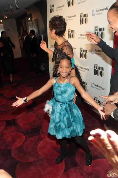 Desiree Rogers, CEO, Johnson Publishing Company and Actress Quvenzhane Wallis (Honoree)