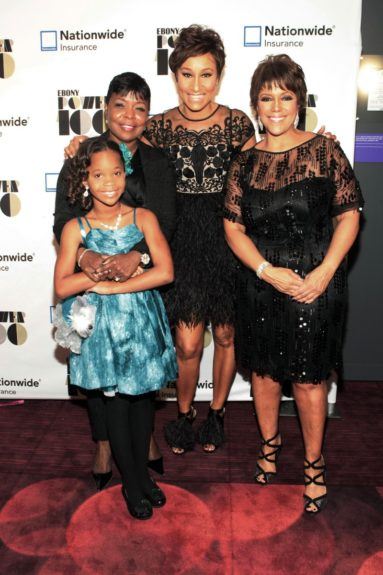 (L-R)Actress Quvenzhane Wallis (Honoree), Gale V. King, EVP, Nationwide, Desiree Rogers, CEO, Johnson Publishing Company and Linda Johnson Rice, Chair, Johnson Publishing Company