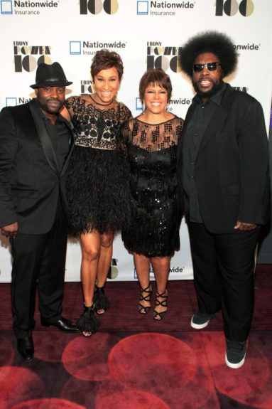 Recording Artist/Actor Tariq Trotter, Desiree Rogers, CEO, Johnson Publishing Company, Linda Johnson Rice, Chair, Johnson Publishing Company and Recording Artist/Music Journalist Questlove at the Ebony Power 100