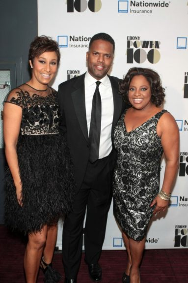 Desiree Rogers, CEO, Johnson Publishing Company, On-Air Personality AJ Calloway and On-Air Personality Sherri Shepherd