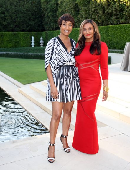 Johnson Publishing CEO and Tina Knowles.