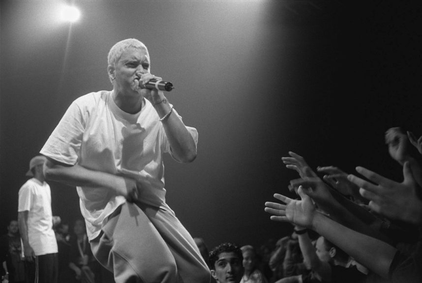 """Song: Stay Wide Awake  Year: 2009  Artist: Eminem  Lyrics: """"You're the kind of girl that I'd assault/ And rape then figure why not try not to make your p—y wider?/ F–k you with an umbrella, then open it up while the sh–s inside ya&quot"""