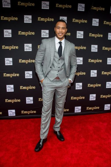 """<p class=""""p1""""> Trai Byers (Andre Lyon) showing off his CEO-like style."""