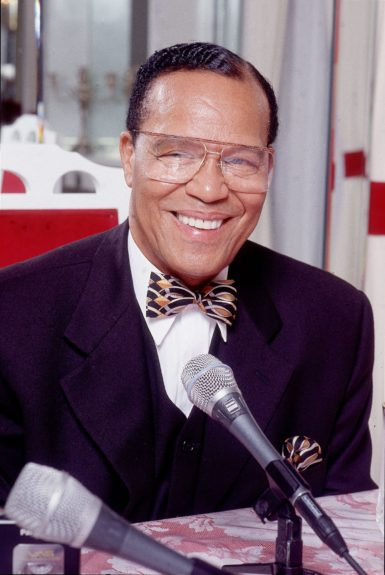 Nation of Islam Religious leader Louis Farrakhan is photographed in 2000. (James Mitchell/Ebony Collection)