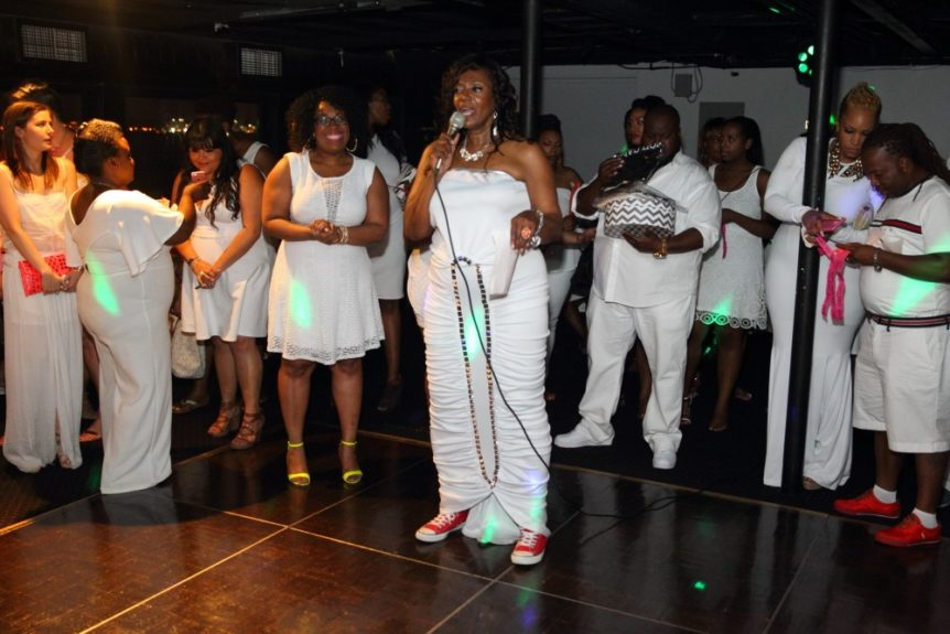 Full Figure Fashion Week creator Gwen DeVoe greets guests on the amazing cruise