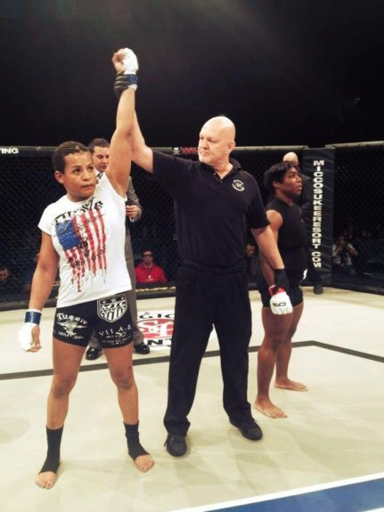 <strong>9. Fallon Fox -- Mixed Martial Arts</strong>  	<em>Photo Courtesy of Fox's Official Facebook Page</em>