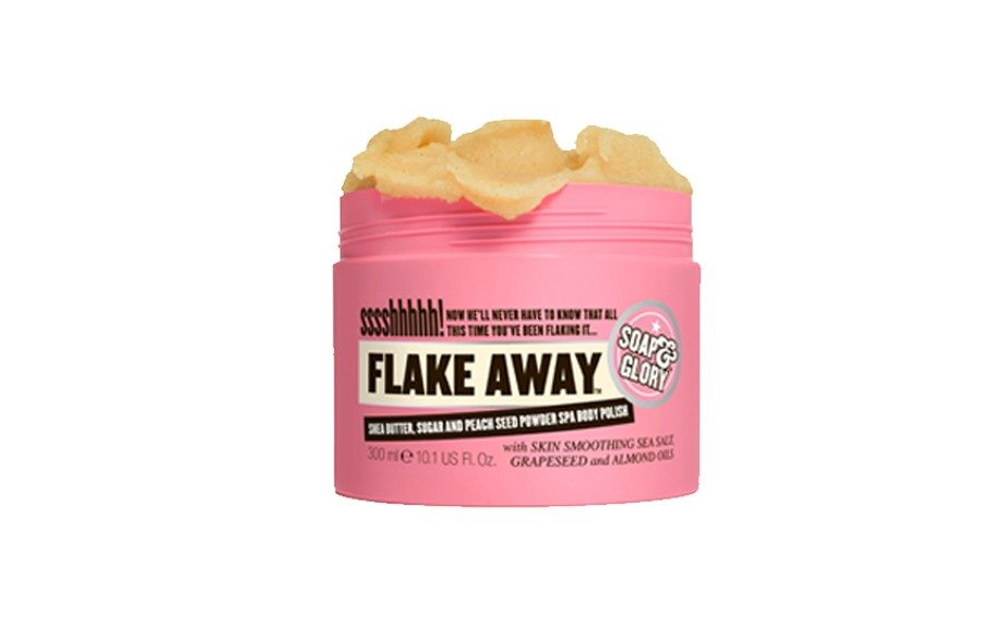 BODY - You can thank the Brits for this one! Keep those tanned limbs polished and exfoliated with this one! Soap and Glory Flake Away Body Polish - Sephora.com, $18.00